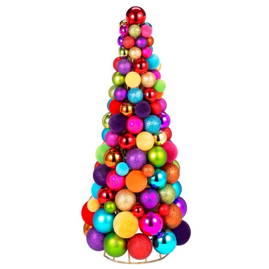 9 christmas trees 10 best Colourful ball Christmas tree from Paperchase Christmas trees – 10 best