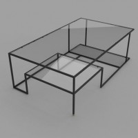 Original Geometry Concept of Minimalist Coffee Table