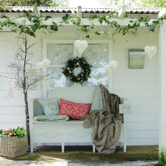christmas porch decorating ideas holiday door for - Decorating Porch For Christmas Country