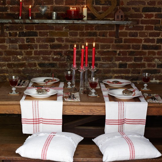 4 country style christmas table ideas Country style Christmas table ideas