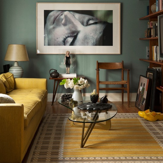 10-10-best-colour-schemes-for-living-room-Yellow-and-teal | Home ...