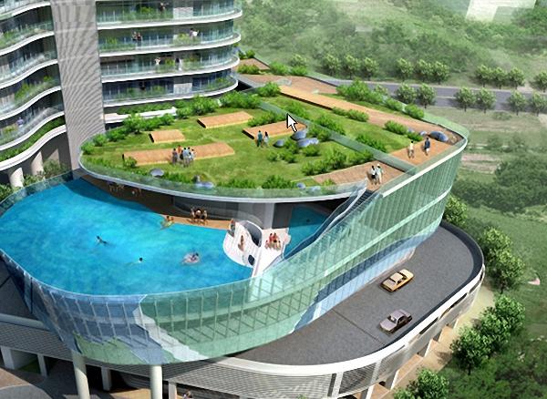 2 glass balcony pools at india Glass Balcony Pools at India