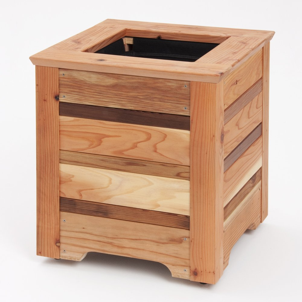 1 redwood planter boxes for garden Redwood Planter Boxes for Garden