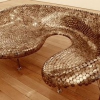Sofa Made From Coins