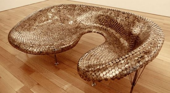 1 sofa made from coins Sofa Made From Coins