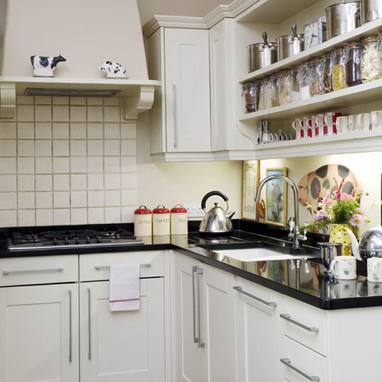 7-ideas-for-small-kitchens-Kitchen-with-open-shelving | Home ...
