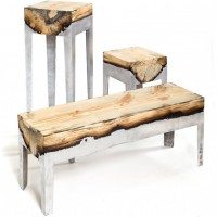 Wooden & Aluminum Furniture by Hilla Shamia