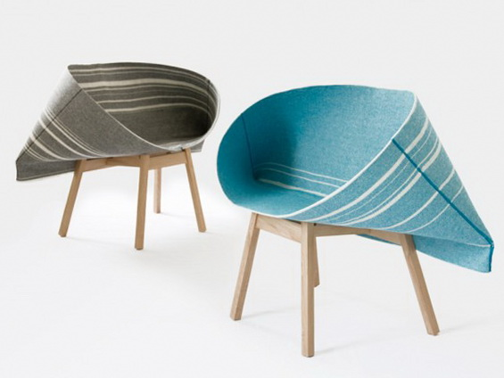 1 fabric armchair by raw edges Fabric Armchair by Raw Edges