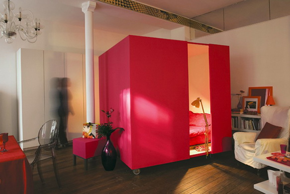 1-idea-for-small-apartment-mobile-bed-cube | Home Interior Design ...
