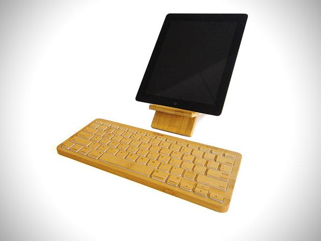 1 izen wireless bamboo keyboard iZen Wireless Bamboo Keyboard
