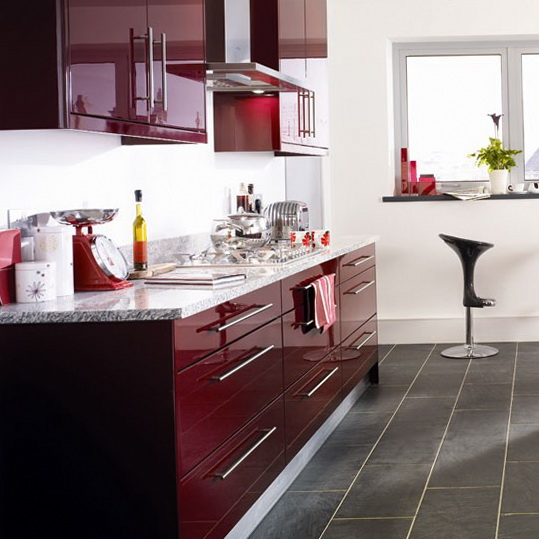4 colour schemes ideas for kitchen Burgundy kitchen Colour Schemes Ideas for Kitchen