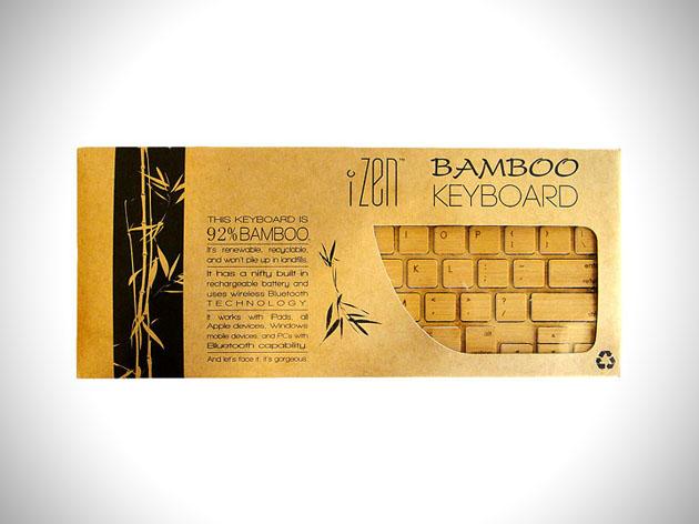 4 izen wireless bamboo keyboard iZen Wireless Bamboo Keyboard