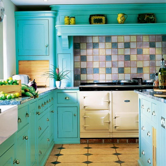 8 colour schemes ideas for kitchen Turquoise kitchen Colour Schemes Ideas for Kitchen