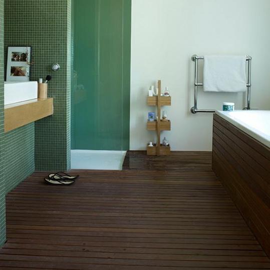 Modern Bathroom Floor Ideas : Bathroom on tile and teal
