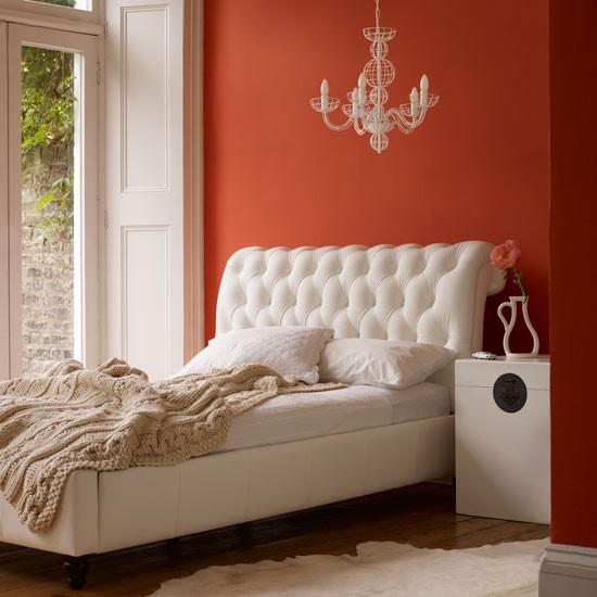 7 colourful bedrooms modern design Orange bedroom with white accessories Colourful Bedrooms   Modern Design