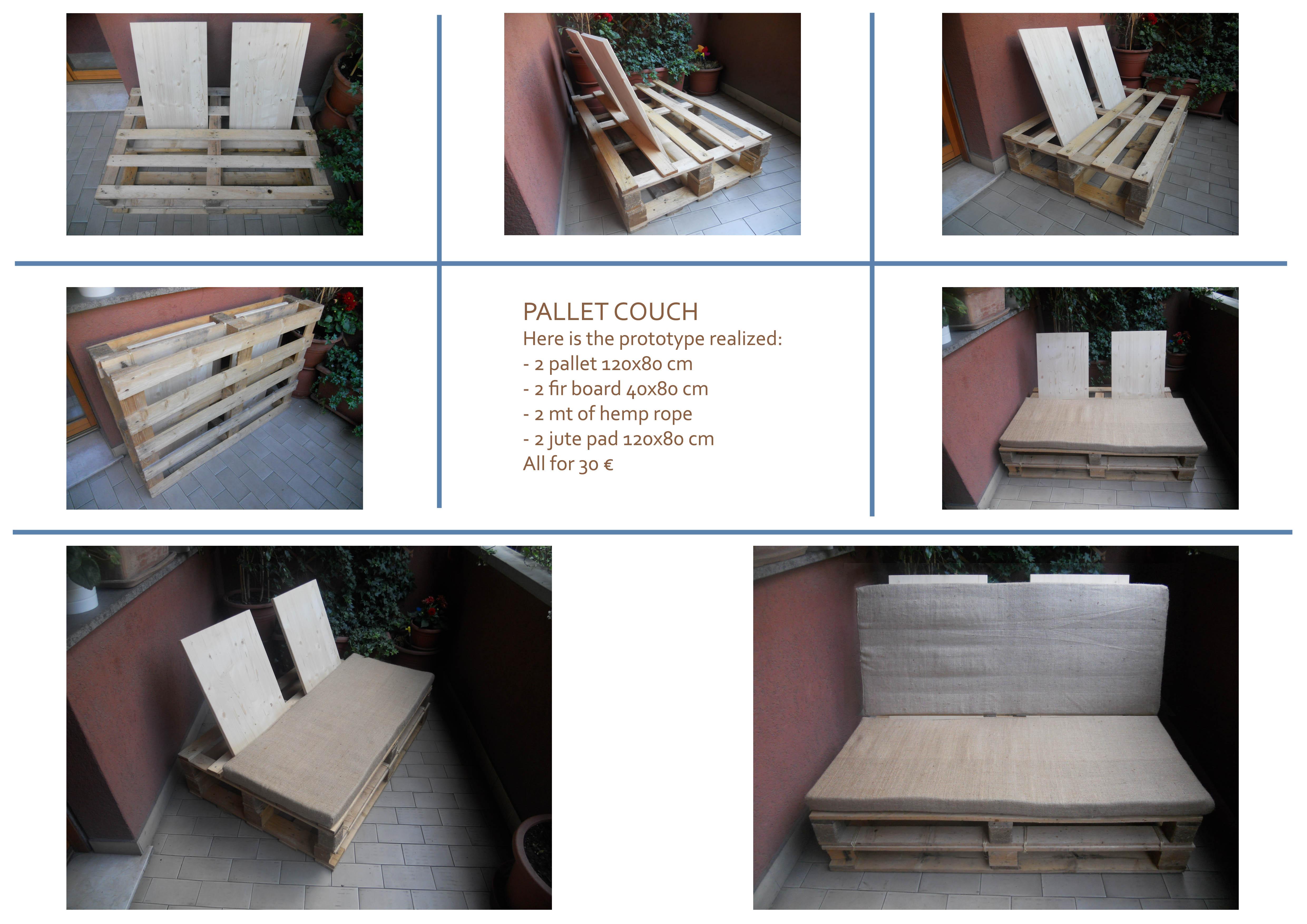 Схема сборки дивана из поддонов