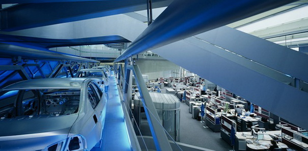 Futuristic BMW Central Building by Zaha Hadid