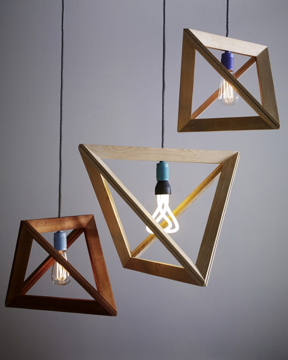 2 wood pendant lamps by herr mandel Wood Pendant Lamps by Herr Mandel