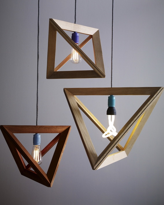 3 wood pendant lamps by herr mandel Wood Pendant Lamps by Herr Mandel