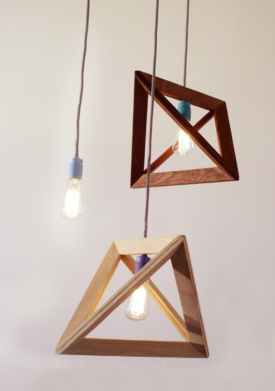 7 wood pendant lamps by herr mandel Wood Pendant Lamps by Herr Mandel