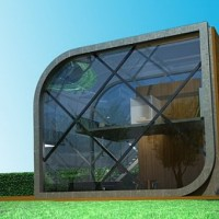 Solar Powered Urban Home in Futuristic Style