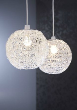 Wire Ball Pendant Silver Effect Choosing the right living room lighting