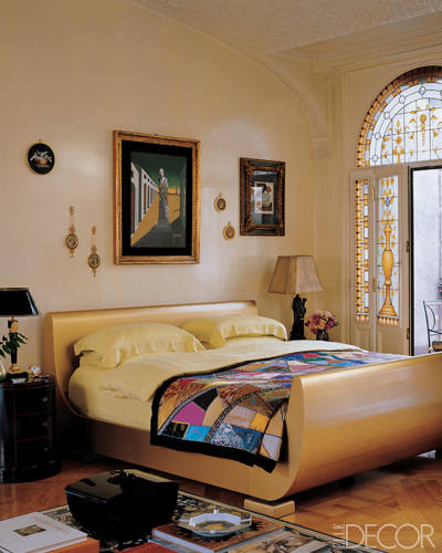 Donatella Versace bedroom 7 Bedrooms of the Rich and Famous