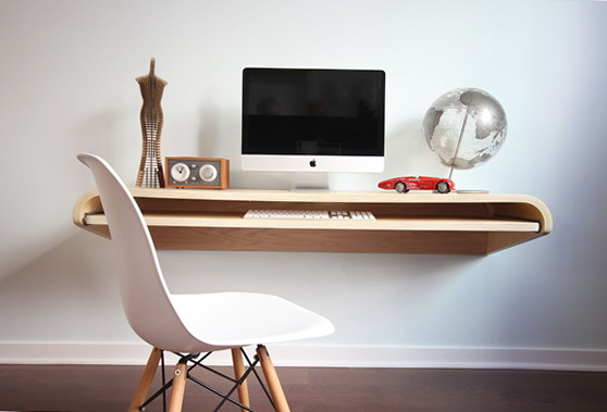 1 minimal float wall desk Minimal Float Wall Desk