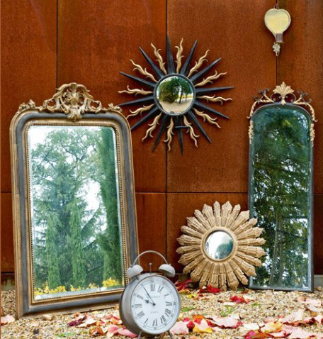 3 beautiful mirror Vintage mirrors in interior