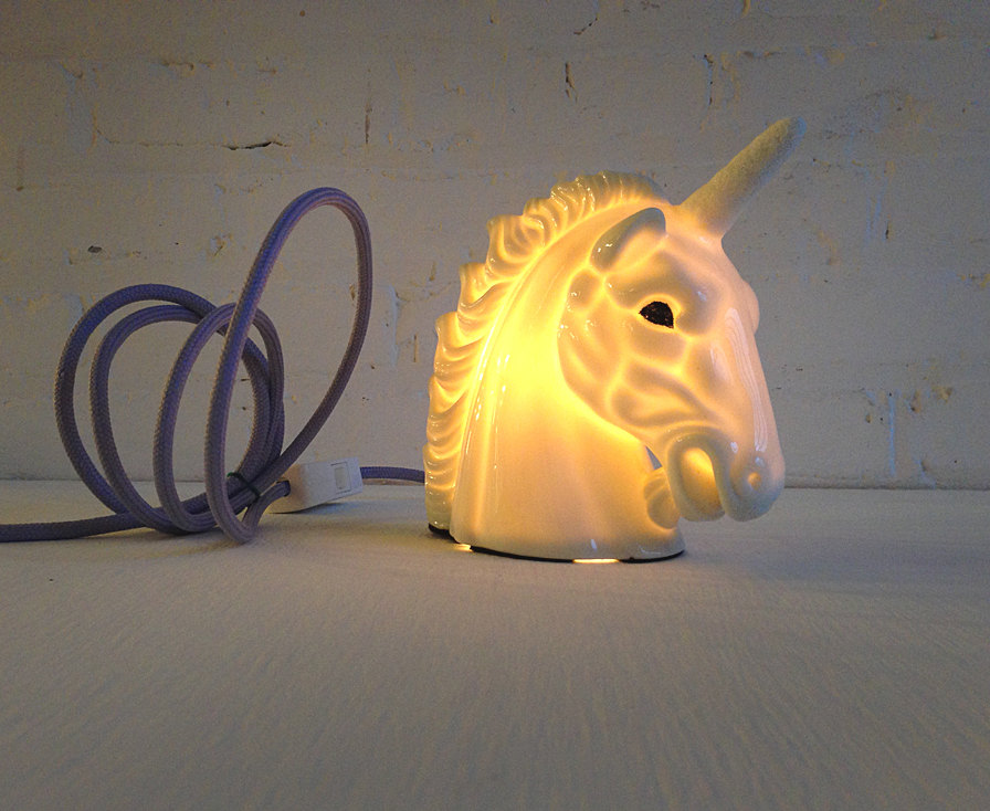 3 unicorn Vintage lamps