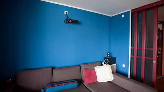 4 projector on sofa Apartment of a Recycling fan Green and Eco Friendly