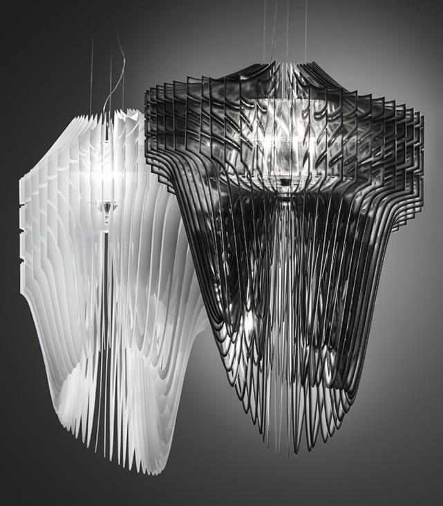 1 aria and avia lamps by zaha hadid Aria and Avia Lamps by Zaha Hadid