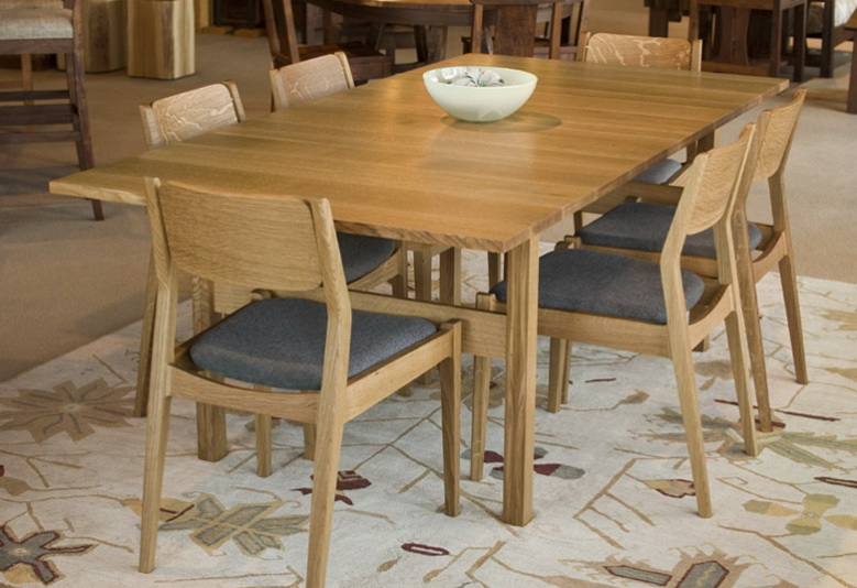 1 dining set in quarter white oak Dining Set in Quarter White Oak