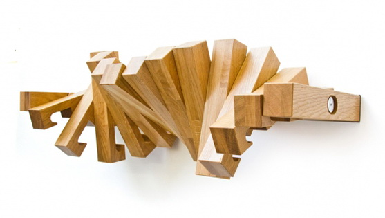 1 wooden book shelf by italian designer Wooden Book Shelf by Italian Designer