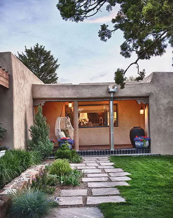 Adobe Residence in New Mexico | Home Interior Design, Kitchen and