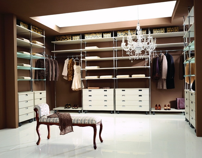 1 Modern Design Wardrobe In The Apartment Dressing Room