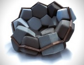 Modular Quartz Armchair by Ctrol Zak and David Barsaghi