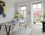 The new design of the old apartment in Sweden