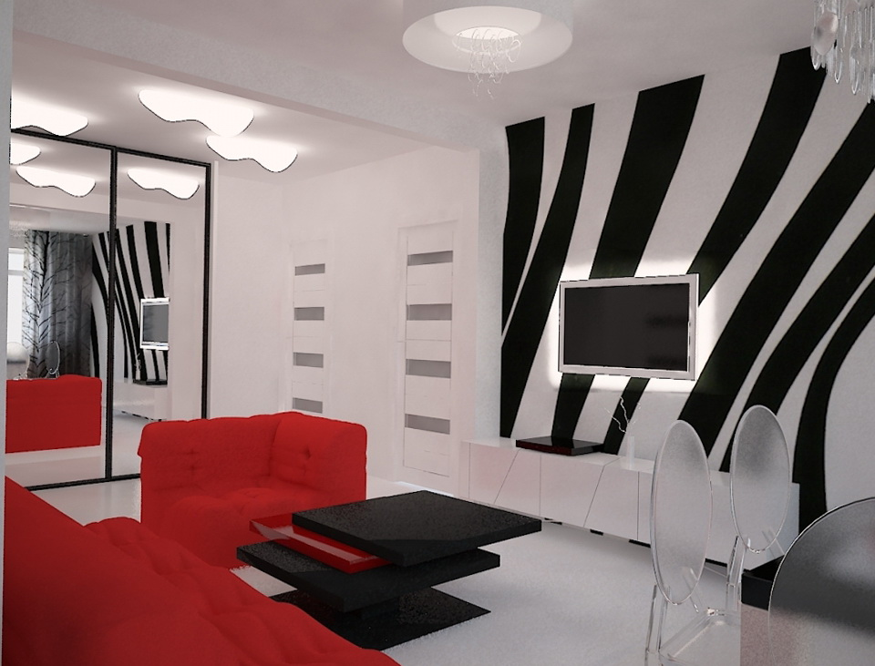 The Interior In The Style Of Pop Art Home Interior