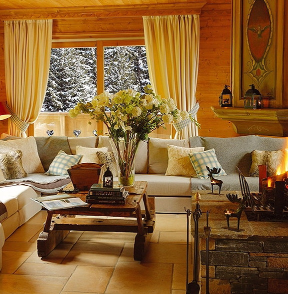 10 luxurious living rooms in country style home interior design kitchen and bathroom designs - Interior design living room warm ...