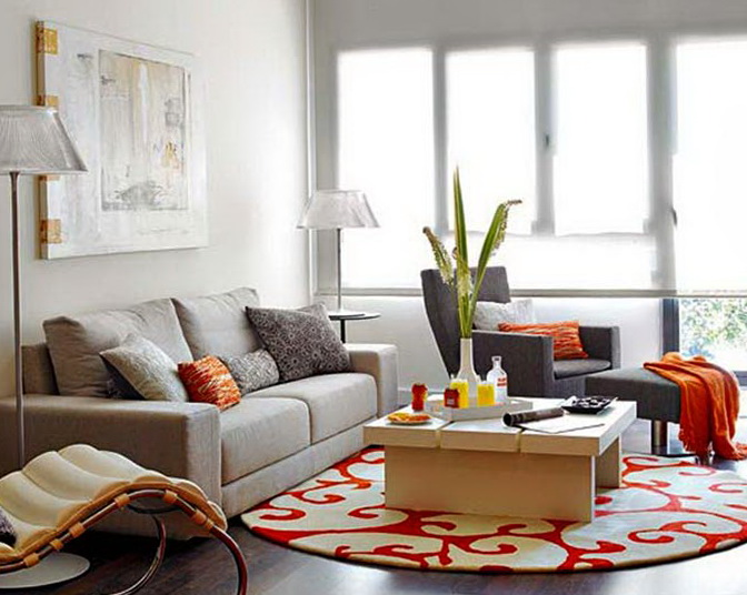 The Successful Combination Of Gray With Yellow And Orange Color In