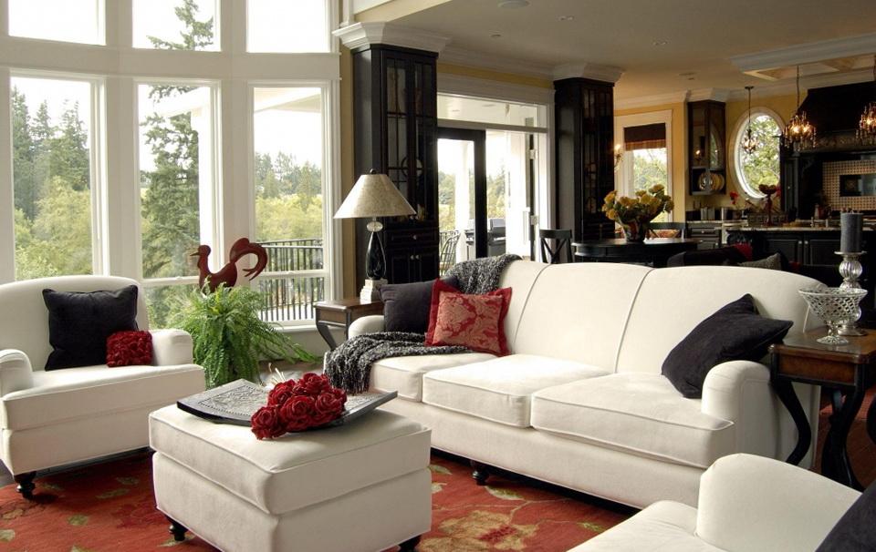 3 White Sofas