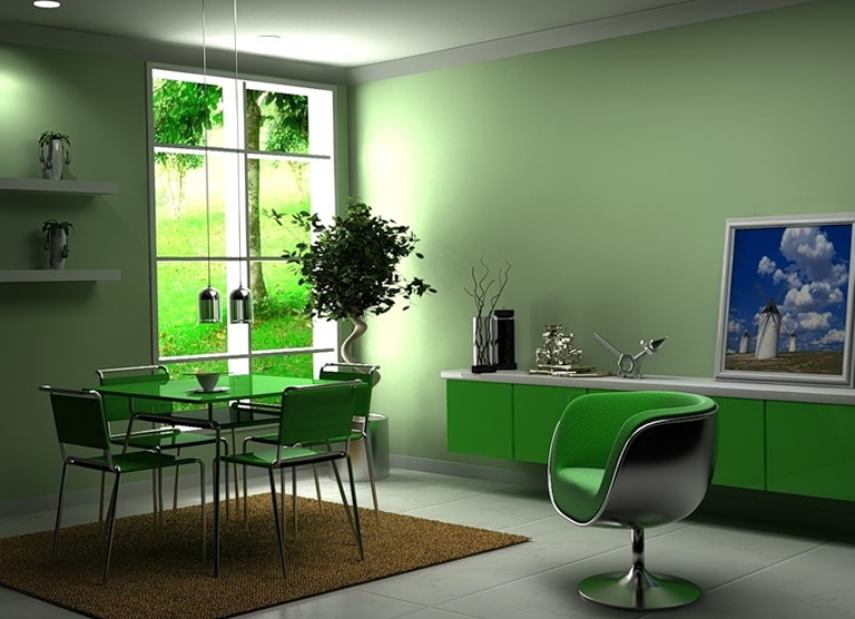 4-green dining room