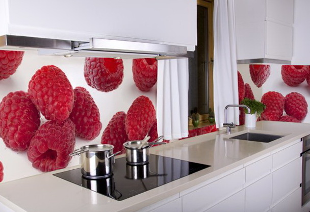 Red Kitchen Tile Design Ideas ~ The kitchen in the red color home interior design kitchen and