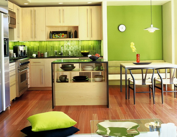 Bright Green Kitchens Kitchen Liances And Review