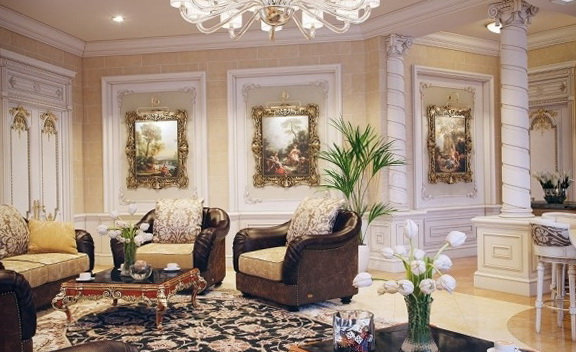 The interior a luxury villa in Qatar Home Interior Design