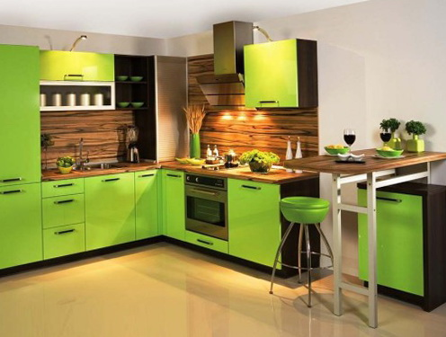 The Design Soft Green Color In The Interior Home