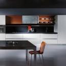 White gloss modern kitchen