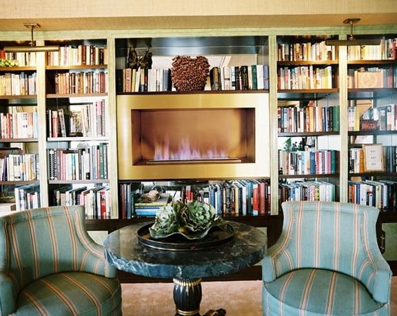 10-fireplace in the bookshelf