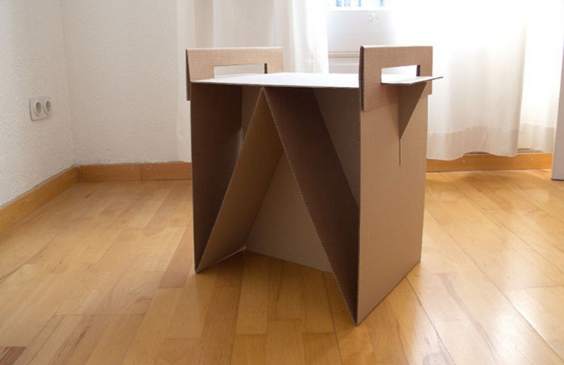 Selection Of Furniture From Cardboard Home Interior Design Kitchen